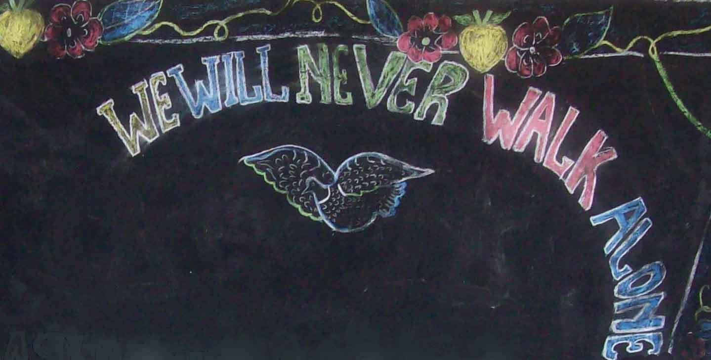 We Will Never Walk Alone Web