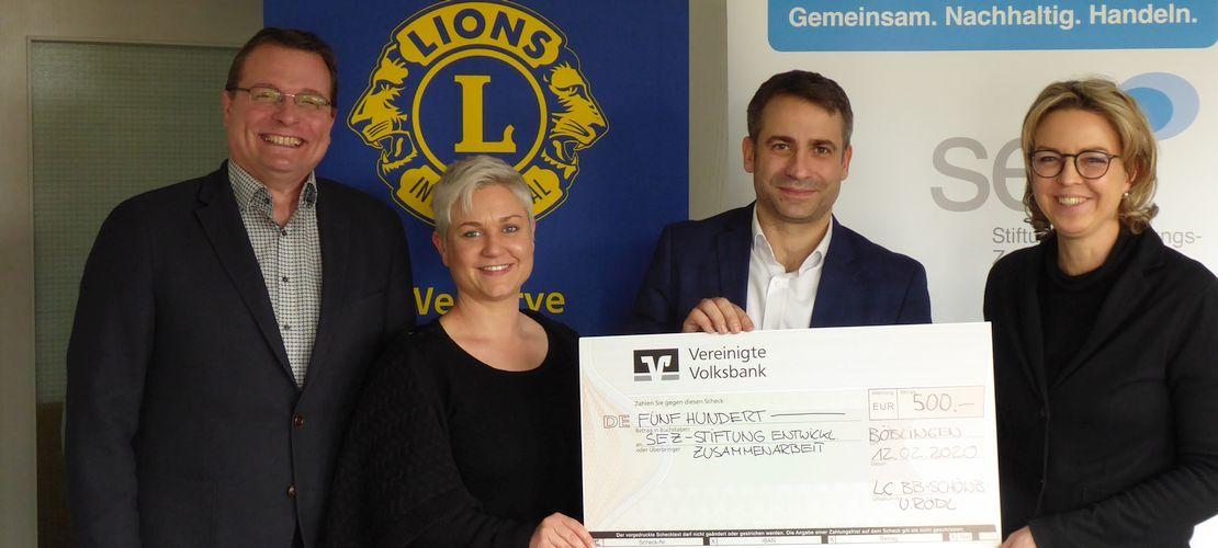 Spendenübergabe Lions Web