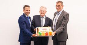 Philipp Keil, Geschäftsführender Vorstand der SEZ, Ministerpräsident a. D. Erwin Teufel, Klaus Weingärtner, Stv. Geschäftsführer der SEZ